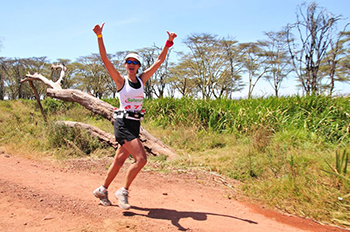 Happy Safaricom Marathon Runner